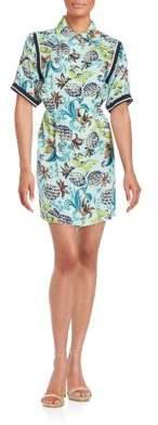 Anna Sui Pineapple Print Shirt Dress