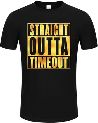 Timeout SPGBTees Gold Foil Men's Straight Outta T-shirt Color L