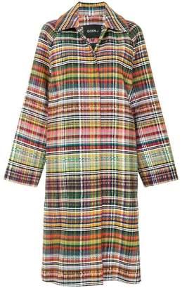 Goen.J long tweed coat