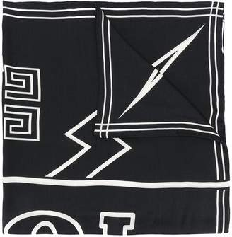 Givenchy graphic print scarf