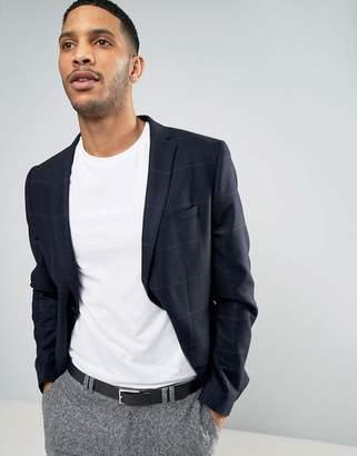Minimum Wool Blend Slim Fit Check Jacket