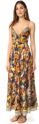 Camilla Phoenix Rise Long Dress With Front Tie $600 thestylecure.com