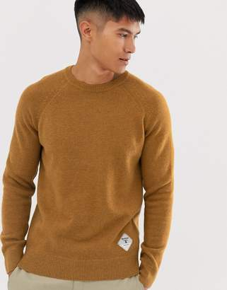 Barbour Beacon lambswool crew neck knit in copper