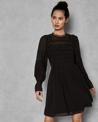595a3e3318d29 Ted Baker ARREBEL Embroidered volume sleeve dress