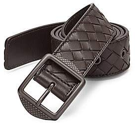 Bottega Veneta Men's Patterned Leather Casual Belt