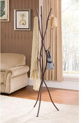 Pilaster Designs Byron Bronze Metal 9 Hook Entryway Tree Branches Coat & Hat Rack Display Stand With Umbrella Stand