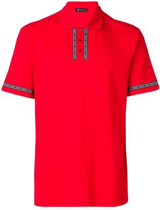 Versace logo embellished polo shirt