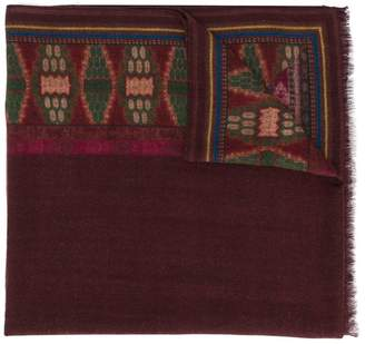 Etro embroidered fringed scarf