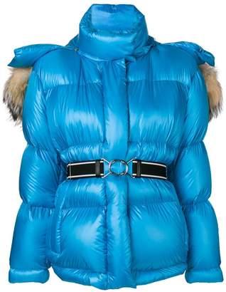 Prada fur trimmed puffer jacket