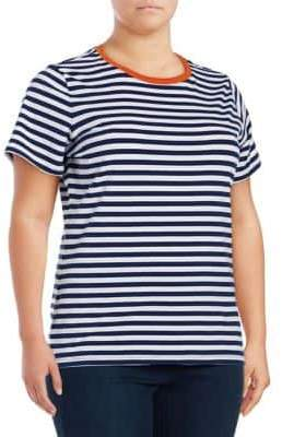 Lord & Taylor Plus Striped Tee