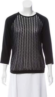 Tibi Crochet Long Sleeve Top