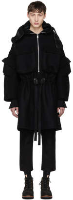 TAKAHIROMIYASHITA TheSoloist. Black Wool Monster Parka