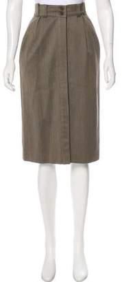 Luciano Barbera Wool Knee-Length Skirt
