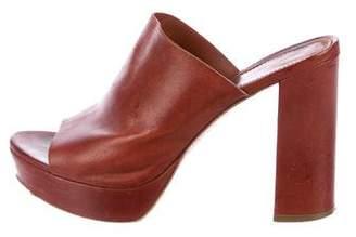 Mansur Gavriel Leather Slide Sandals
