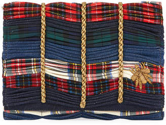 Sanayi313 Mattia Embroidered Tartan Clutch Bag
