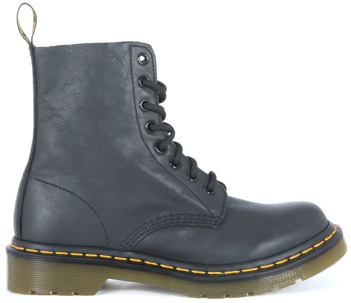 Dr. MartensDr Martens Pascal Lace Ankle Shoes In Black Nappa Cow Leather