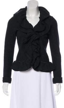 Magaschoni Wool Ruffle Draped Jacket