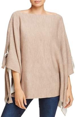Aqua Reversible Tie Detail Poncho - 100% Exclusive