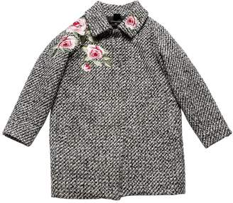 MonnaLisa Roses Patches Boucle Coat