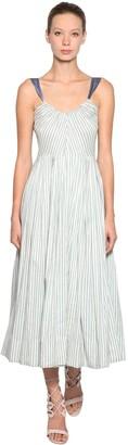 Luisa Beccaria Striped Silk Dress