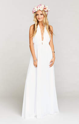 Show Me Your Mumu Luna Halter Dress ~ White Chiffon