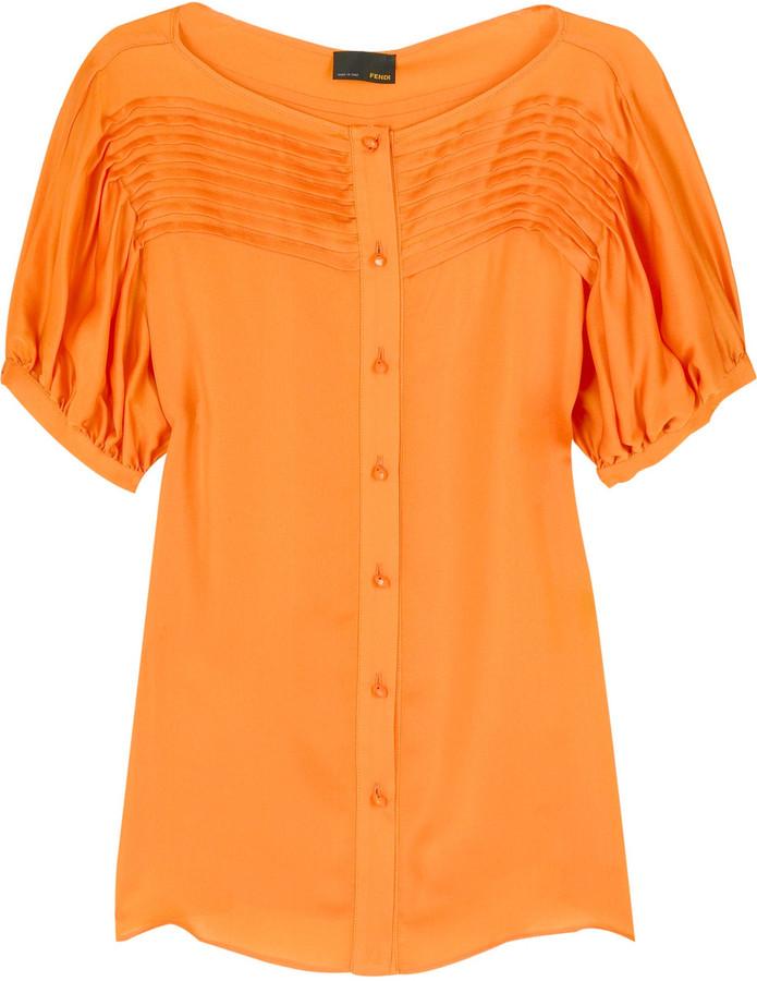 Fendi Pleat detail blouse