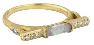 Jude Frances 18K Moonstone Labradorite & Diamond Marrakech East West Ring