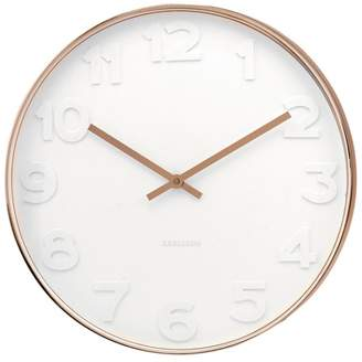 Karlsson Mr. White Numbers Copper Case Wall Clock