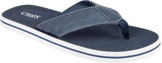 Chaps Men's Chambray Thong Sandals