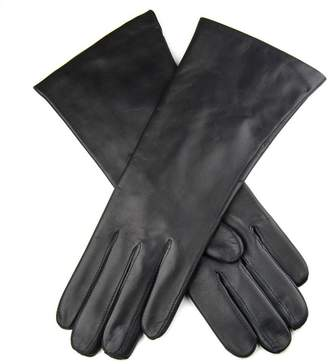 Black Ladies Cashmere-Lined Leather Gloves