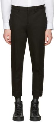 Neil Barrett Black Cropped Zip Trousers $540 thestylecure.com