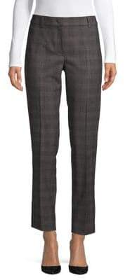 Max Mara Editta Check Wool-Blend Pants