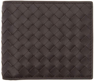 Bottega Veneta Brown Intrecciato Bifold Wallet