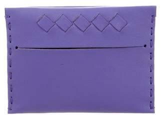 Bottega Veneta Leather Card Holder w/ Tags