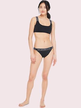Kate Spade Treasure beach logo bikini top