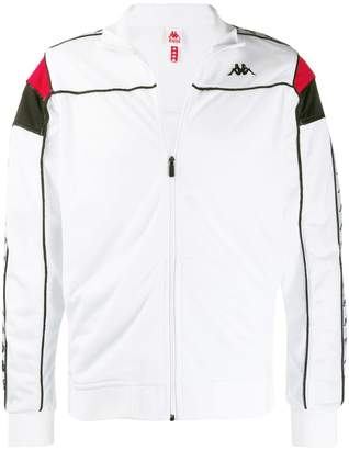 contrast piped trim track jacket