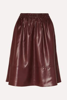 595756f1f7 Burgundy Leather Skirt - ShopStyle UK