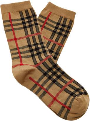Burberry Plaid Cotton-Blend Socks