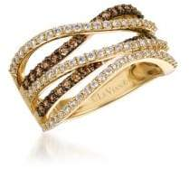 LeVian Chocolatier Vanilla Diamonds, Chocolate Diamonds & 14K Honey Gold Ring