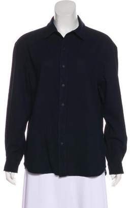 3x1 Long Sleeve Button-Up Top