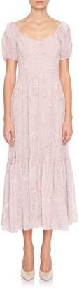 LoveShackFancy Angie Short Sleeve Dress