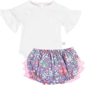 RuffleButts Bodysuit & Ruffle Bloomers Set