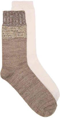 Kelly & Katie Ribbed Cuff Crew Socks - 2 Pack - Women's
