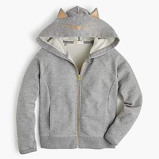 J.Crew Girls' kitty zip hoodie