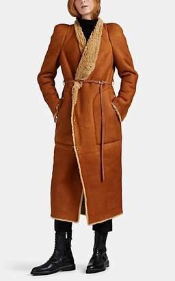 Rick Owens Women's Nomi Shearling Long Coat - Rust