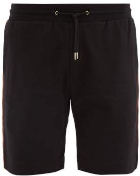 Paul Smith Artist Stripe Loop Back Cotton Jersey Shorts - Mens - Black