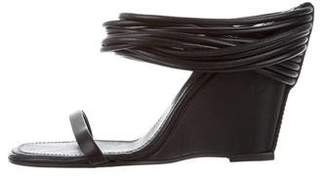 Rick Owens Multistrap Leather Wedges