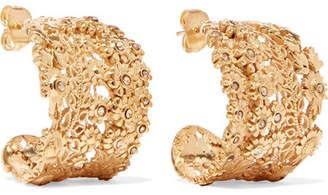 Etro Gold-tone Crystal Hoop Earrings
