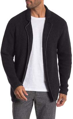Autumn Cashmere Sheepskin Leather Trim Thick Stitch Blazer