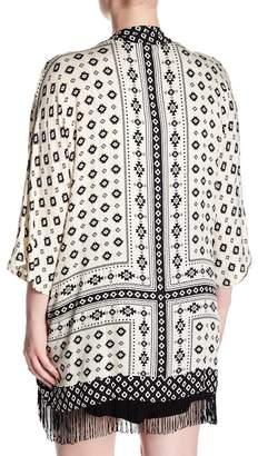 PJ Salvage Printed Scarf Kimono (Plus Size)